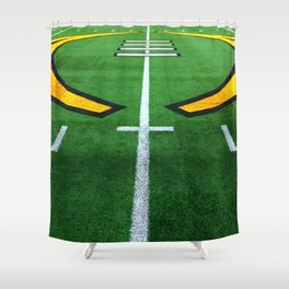 Rugby playing field Shower Curtain