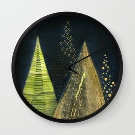 Chritmas Trees Wall Clock