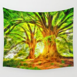2 Trees Wall Tapestry
