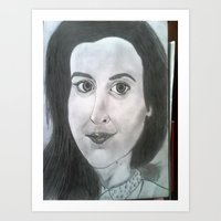 Potrait drawing Art Print