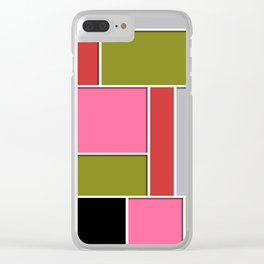 Abstract #49 Clear iPhone Case