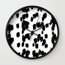 Snow Cheetah Wall Clock
