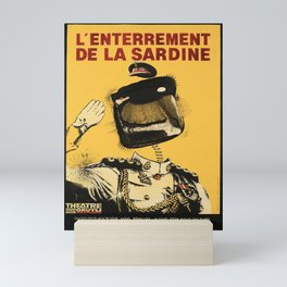 Plakat lenterrement de la sardine theatre Mini Art Print