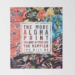 Aloha Print Life Throw Blanket