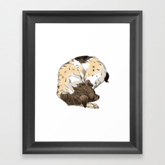 Sleeping Dog #002 Framed Art Print