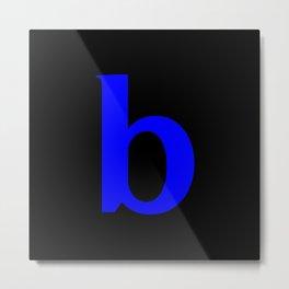 b (BLUE & BLACK LETTERS) Metal Print
