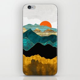 Turquoise Vista iPhone Skin