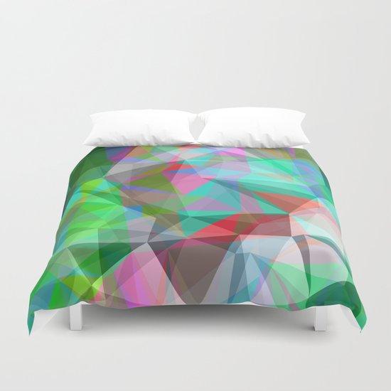 green crystal depth Duvet Cover