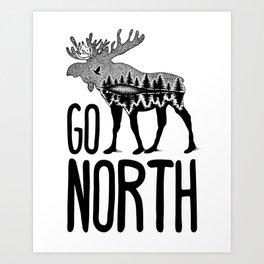 Go North Art Print