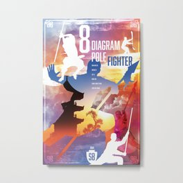 Shaw Brothers Poster Series :: 8 Diagram Pole Fighter Metal Print