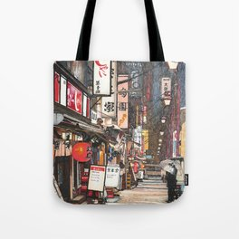 Lights in the Snow Tote Bag