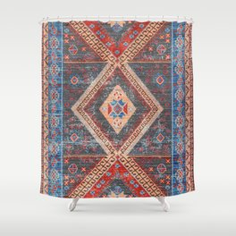 (N16) Boho Moroccan Oriental Artwork for Rustic and Farmhouse Styles. Shower Curtain