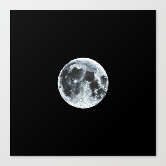 Full Moon Painting Canvas Print By Alizeykhan Society6