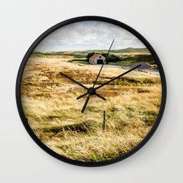 Little House in the Dutch Dunes | Coast | Callantsoog, The Netherlands | Color | Travel Photography | Photo Print | Art Print Wall Clock