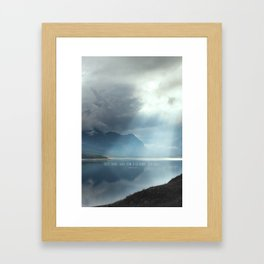 Give Wind and Tide a Chance to Change Framed Art Print