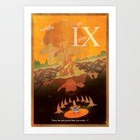 discount Art Prints featuring Vintage FF Poster IX by BuddyIris213