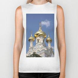 Onion Domes Alexander Nevsky Cathedral Biker Tank
