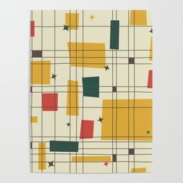 Mid-Century Modern (gold) Poster