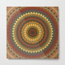 Earth Mandala 6 Metal Print