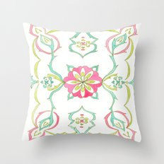 #98. SELENE (Symmetrical Floral Design) Throw Pillow