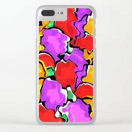Colorful Scrambled Eggs Clear iPhone Case