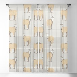 Whimsical Zebra Sheer Curtain