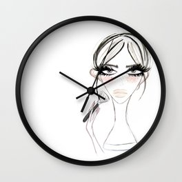 Morning Make Up Wall Clock