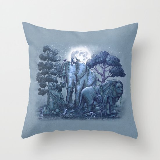 Stone Garden Throw Pillow
