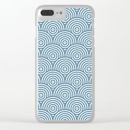 Scales - Blue & White #453 Clear iPhone Case