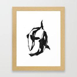 Orca Yin Yang Framed Art Print