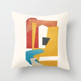Abstract Stacked Geometry 2 Throw Pillow