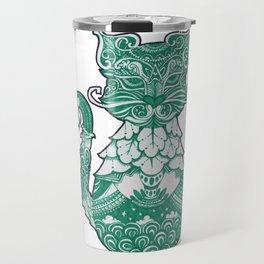 ornament decorative cat illustration Travel Mug