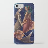 mermaids iPhone & iPod Cases featuring Mermaids by laya rose
