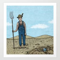Farmers luck Art Print