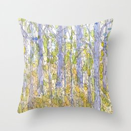 Forest 33 Throw Pillow