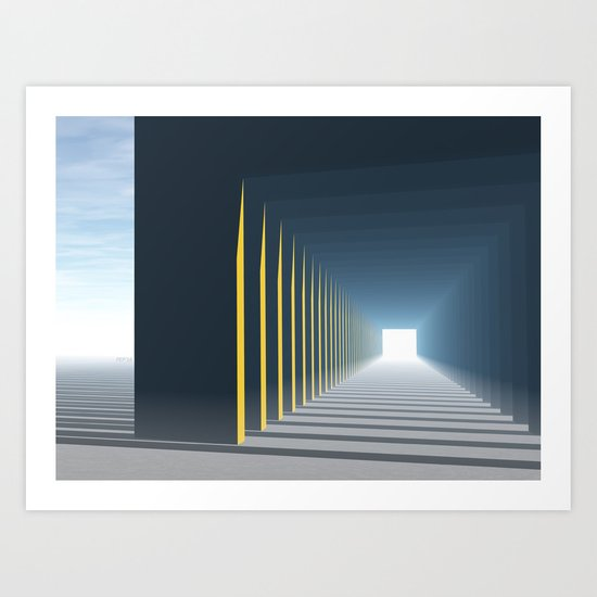 Linear Perspective of Light Art Print