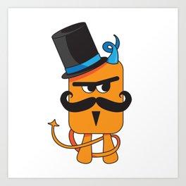 Mustachioed Miscreant Art Print