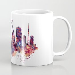 St Louis Watercolor Skyline Coffee Mug