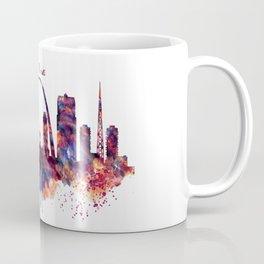 St Louis Watercolor Skyline Coffee Mug