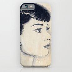 audrey (watercolor) iPhone 6s Slim Case
