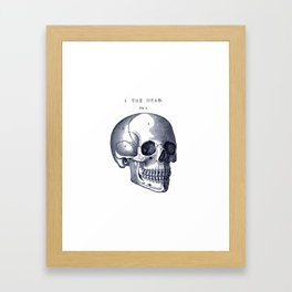 Do I Have Something In My Teeth? Framed Art Print