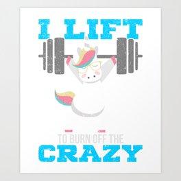 Gewichtheben Geschenk Art Print
