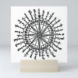 A Mariners Compass. The Seaman's Secrets. Mini Art Print