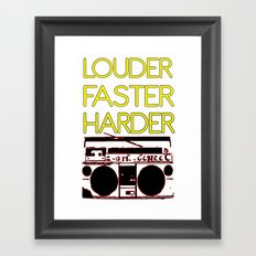 LOUDER Framed Art Print