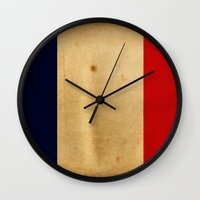 france Wall Clocks featuring France by NicoWriter