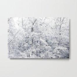 Winter is here - Snowy Birches Winter Scene #decor #society6 #buyart Metal Print