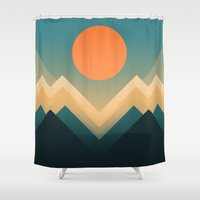 sun Shower Curtains featuring Inca by Picomodi