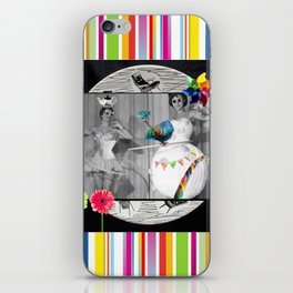 Hooping Homemakers with a blue fish (and other things) iPhone Skin