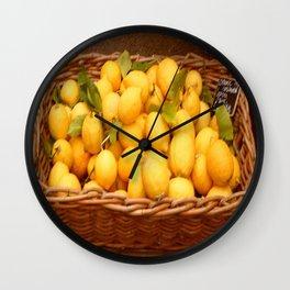 Basketful of Lemons. Wall Clock