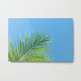 Vibrant Green Palm Leaf - Summer Tropical Vibe Metal Print